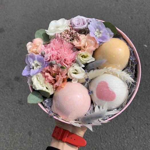 """Коробочка """"Сахарная пена"""": букеты цветов на заказ Flowwow"""