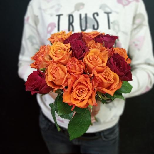 Оранжевый микс: букеты цветов на заказ Flowwow