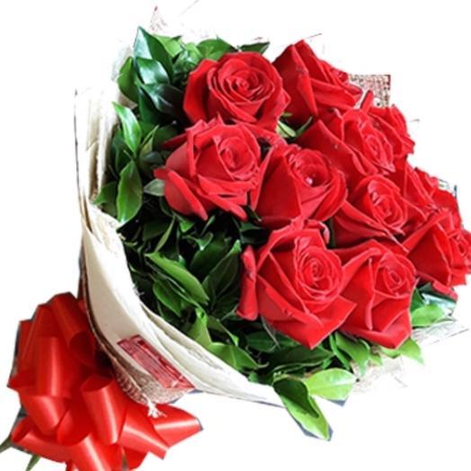 Dozen roses - 50 cm