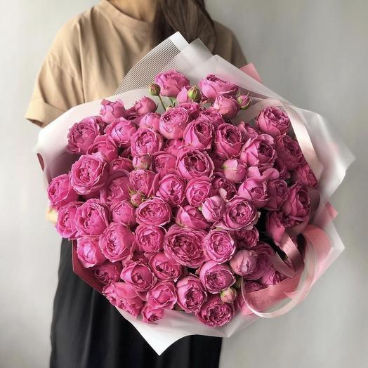 Розовое мороженое: букеты цветов на заказ Flowwow