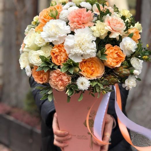 Персиковый пай: букеты цветов на заказ Flowwow