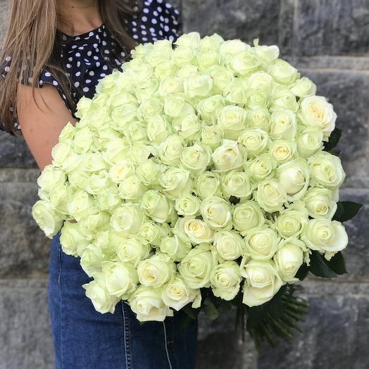 51 бела роза 70 см: букеты цветов на заказ Flowwow