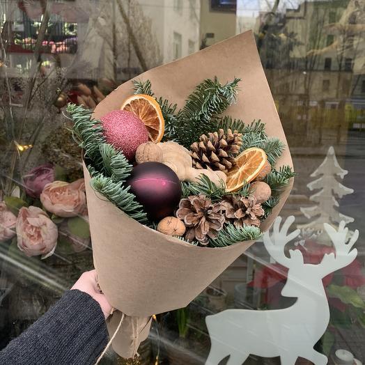 Зима в крафте: букеты цветов на заказ Flowwow