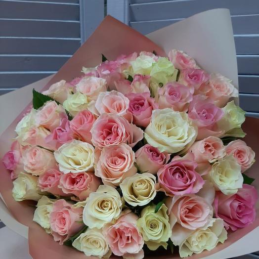 51 поцелуй: букеты цветов на заказ Flowwow