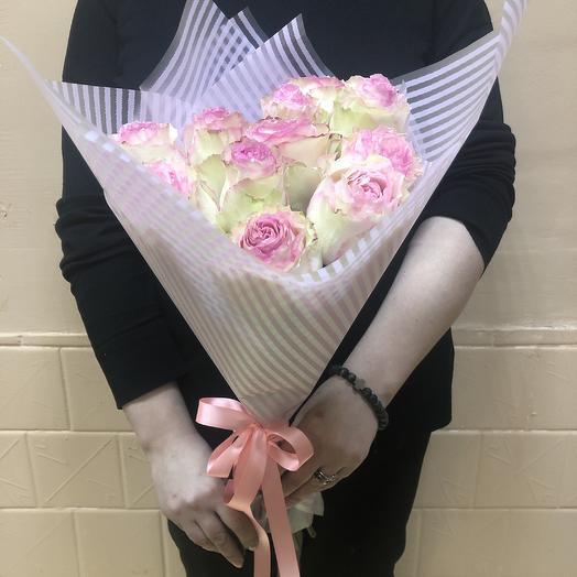 Букет сливки розовые: букеты цветов на заказ Flowwow