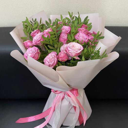 Букет из 9 пионовидных роз Леди Бомбастик (40 см ): букеты цветов на заказ Flowwow