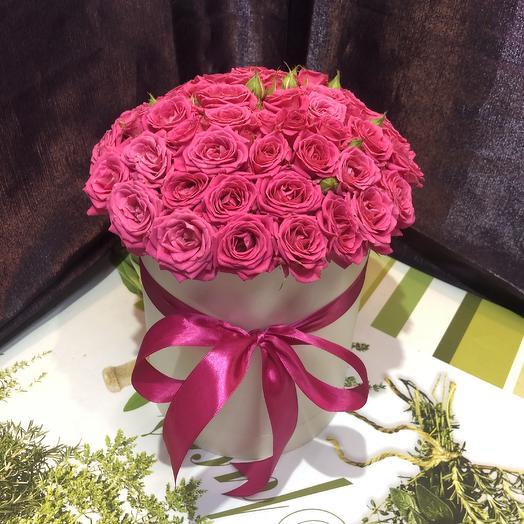 Малиновая коробочка: букеты цветов на заказ Flowwow
