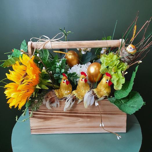 "Пасхальная композиция ""Весёлая семейка"": букеты цветов на заказ Flowwow"