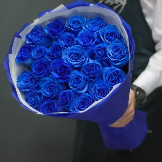 Синие розы - 25шт
