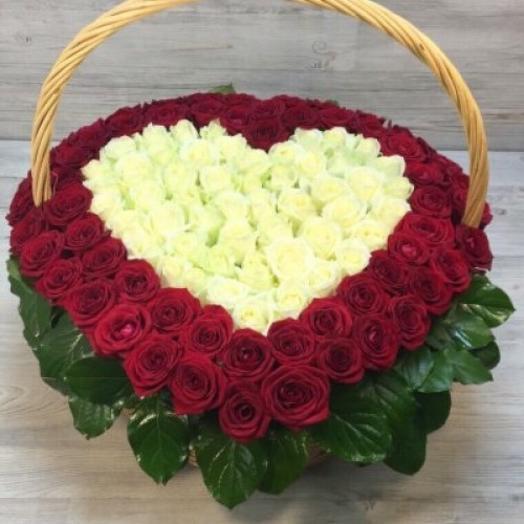 Сердце для любимой: букеты цветов на заказ Flowwow