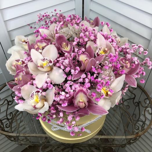 Коробка из орхидеи: букеты цветов на заказ Flowwow