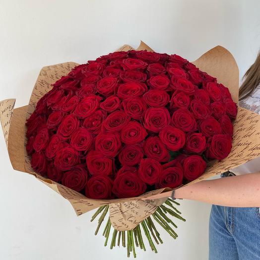 101 red roses (60cm)