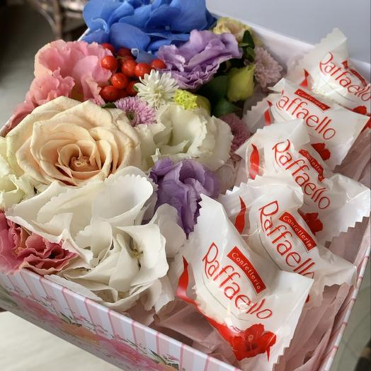 Набор цветы+ рафаэлло