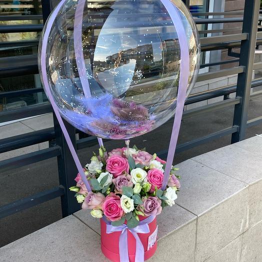 Цветы с воздушным шаром