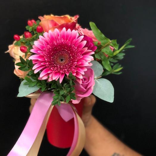 Стаканчик с цветами