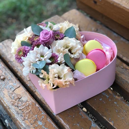 Влюбленное сердце(наполнение сладостей на усмотрение магазина)