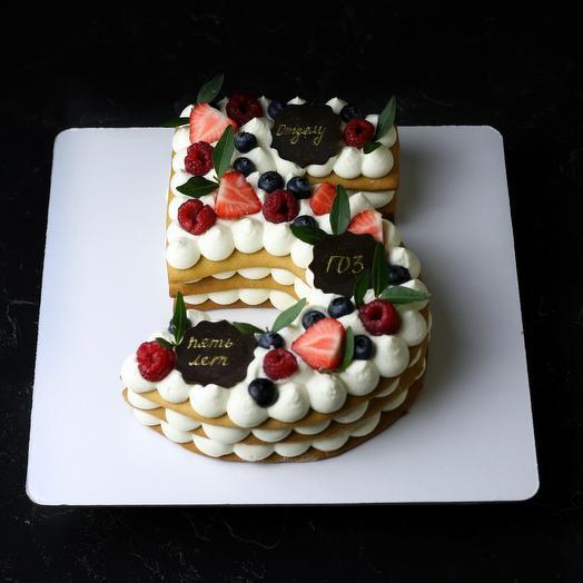 Торт медовый открытый