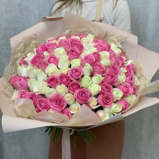 Букет из 101 розы Premium (Кения)