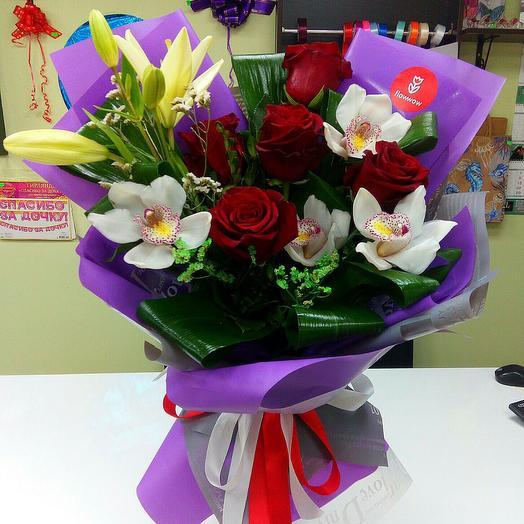 Орхидея с розой
