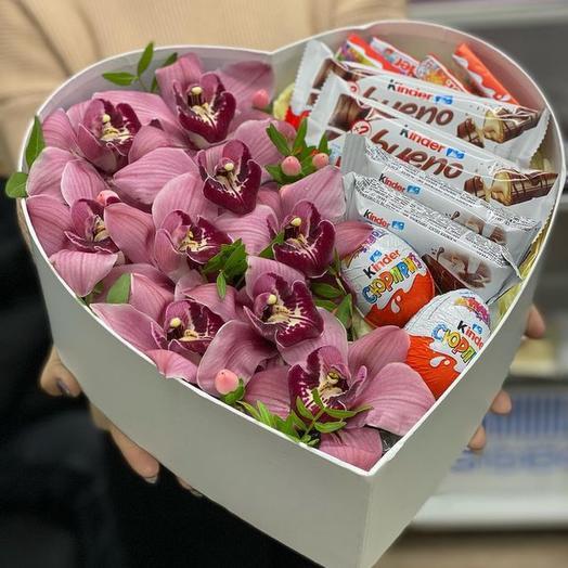 Подарочный набор с орхидеями