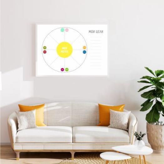 """Мотивационный постер """"Карта желаний. Dream Do"""" А1 в тубусе"""