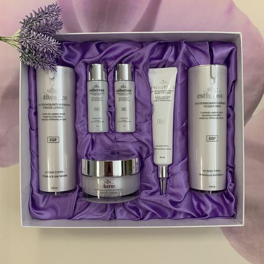Антивозрастная серия с фактором роста Estheroce Whitening And Anti-Wrinkle Power Skin Care Set