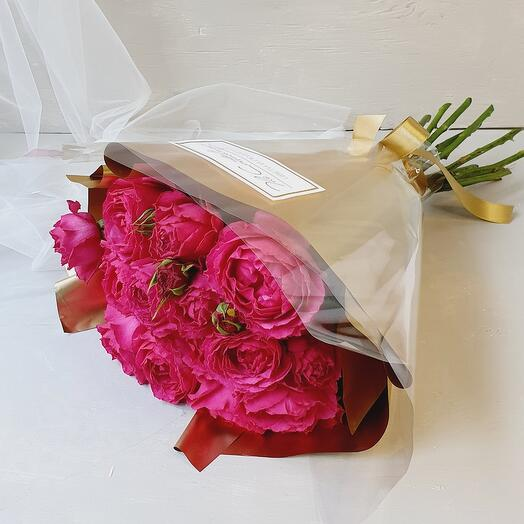 """Букет из кустовых роз """"Rose gold"""""""