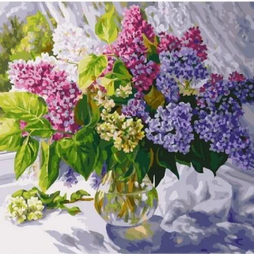 "Картина по номерам  ""Сиреневое разноцветье"" 40х50 см"