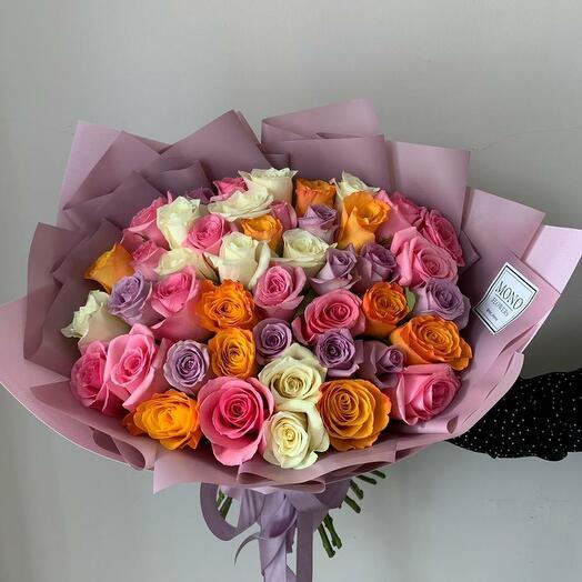 Роза кения микс 51шт