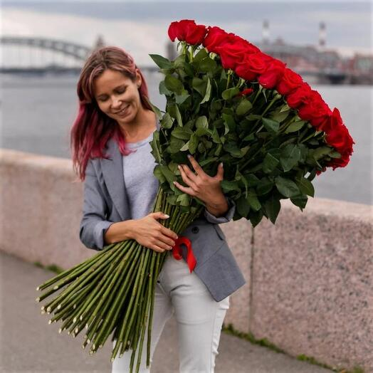 Роза эквадор 100 см