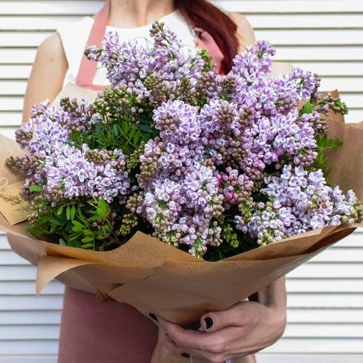 Сирень и писташ: букеты цветов на заказ Flowwow