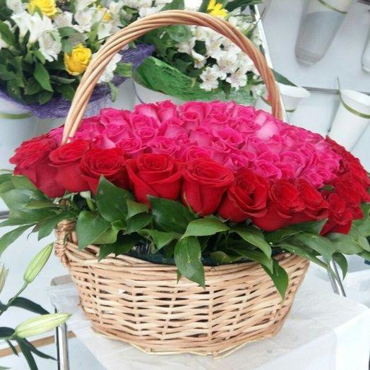 151 РОЗА С ЛЮБОВЬЮ: букеты цветов на заказ Flowwow