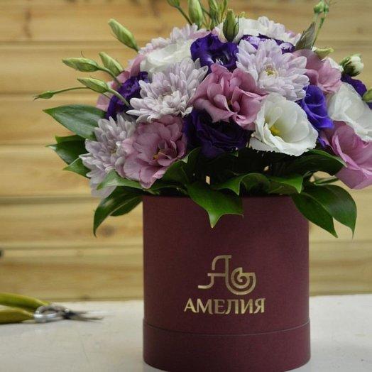 Нежная шляпная коробочка: букеты цветов на заказ Flowwow