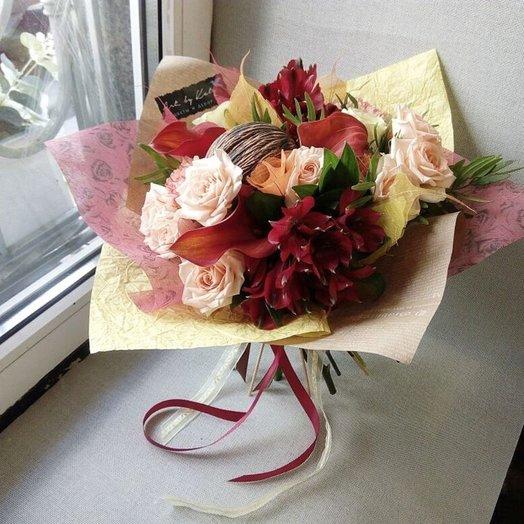 Букет страстный с минтолом: букеты цветов на заказ Flowwow