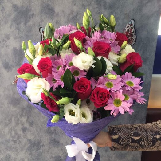 Малиновый бриз: букеты цветов на заказ Flowwow