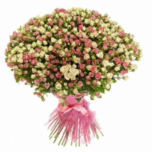 101 кустовая роза от Floristic World. Лидия и Сноуфлейк