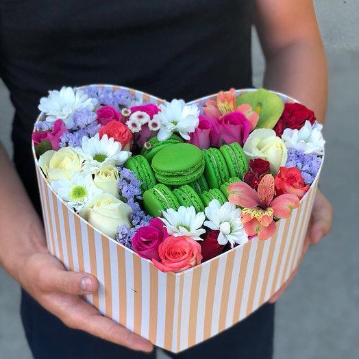 макароны с цветами в виде сердца