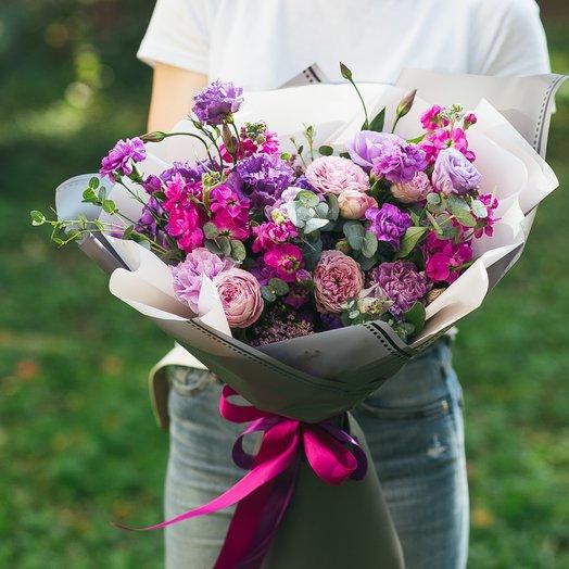 Лиловый восторг: букеты цветов на заказ Flowwow