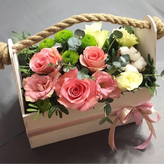 Микс в ящичке 3: букеты цветов на заказ Flowwow