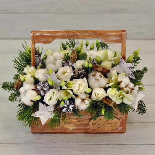 Ящик Снегопад: букеты цветов на заказ Flowwow