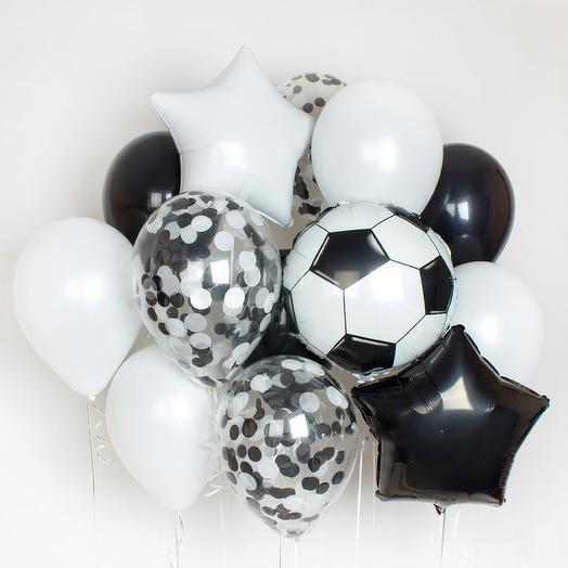 Набор шаров для любителя футбола: букеты цветов на заказ Flowwow
