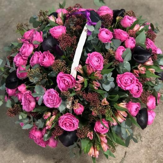 Черничная корзина изыска: букеты цветов на заказ Flowwow
