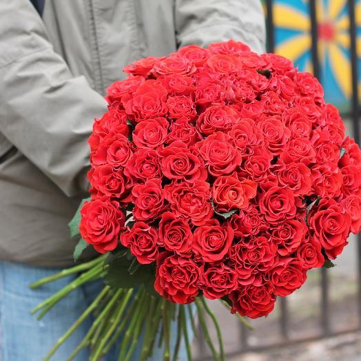 Букет из 69 красных роз: букеты цветов на заказ Flowwow