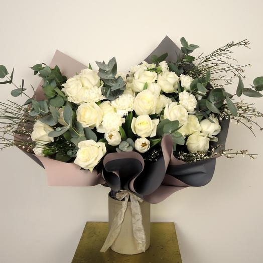 Букет-микс большой (50 см): букеты цветов на заказ Flowwow