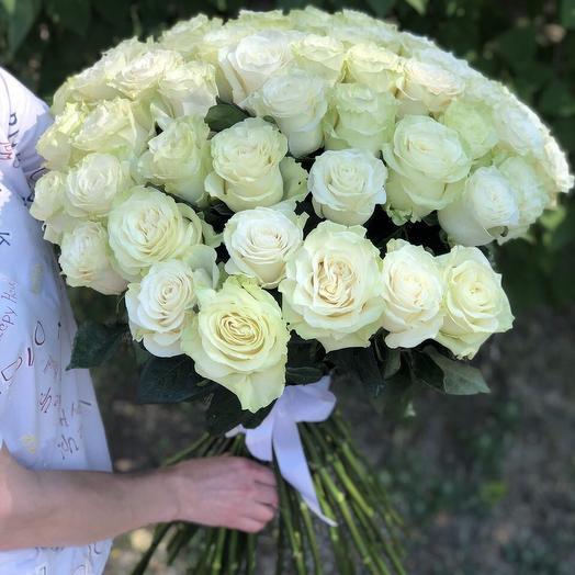 Розы 80см Мондиаль: букеты цветов на заказ Flowwow