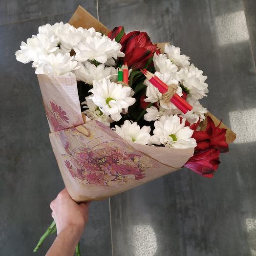 Букет школьника на 1 сентября (7): букеты цветов на заказ Flowwow