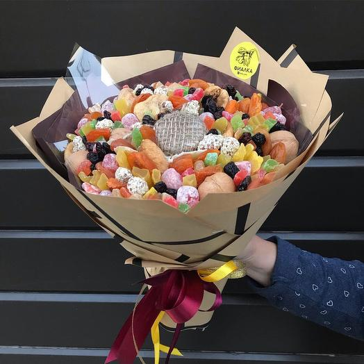 Букет с мёдом, орехами и сухофруктами: букеты цветов на заказ Flowwow