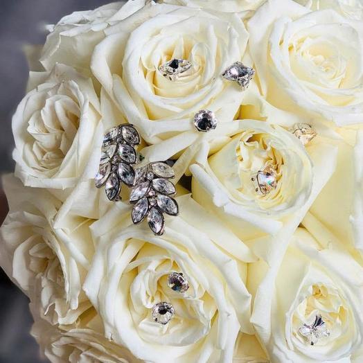 "Букет невесты ""Swarovski"": букеты цветов на заказ Flowwow"