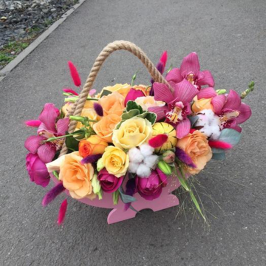 Роскошный ящик: букеты цветов на заказ Flowwow