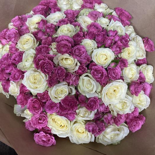 71 роза: букеты цветов на заказ Flowwow